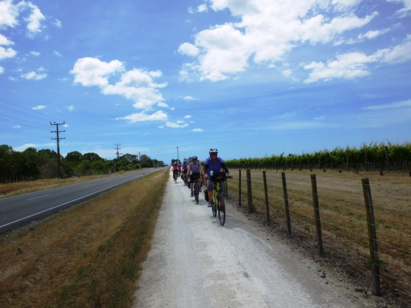 getting ready for a gimblett gravels wine tour by bike